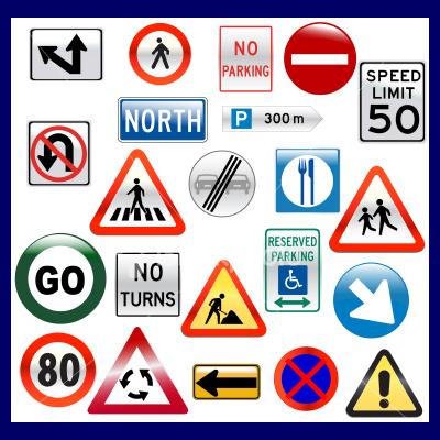 Arrow Driving School Road Symbols