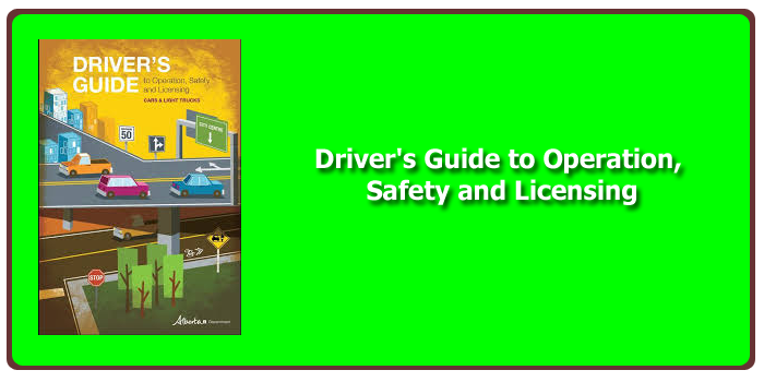 Alberta Transportation Approved Drivers Guide